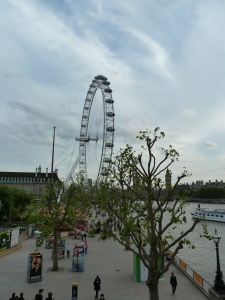 There were a ton of buskers over by the Ferris Wheel, a.k.a. The London Eye.